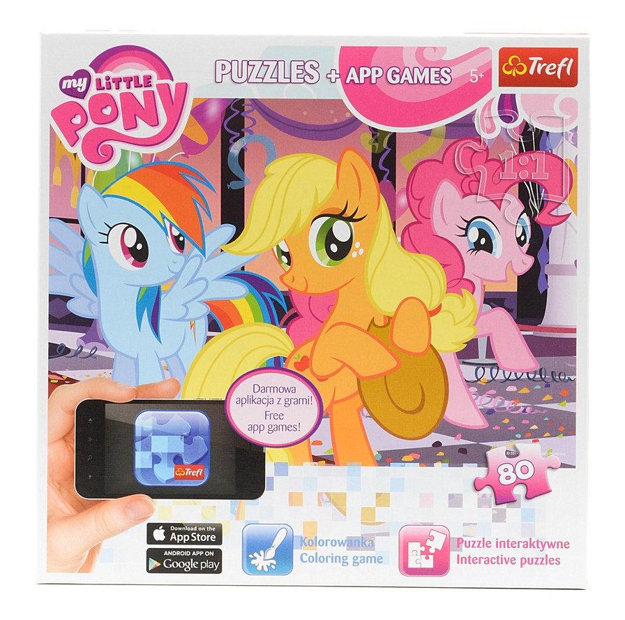 Интерактивный пазл My Little Pony Веселье 80 элементов ...