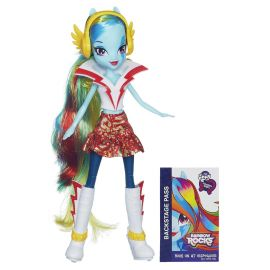 "Кукла ""Rainbow Rocks"" Девушки Эквестрии - Рэйнбоу Дэш с наушниками, фото 1"