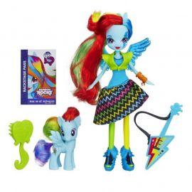 "Кукла ""Rainbow Rocks"" Девушки Эквестрии - Рэйнбоу Дэш с фигуркой пони, фото 1"