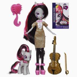 "Кукла ""Rainbow Rocks"" Девушки Эквестрии - Октавия Мелоди с фигуркой пони, фото 1"