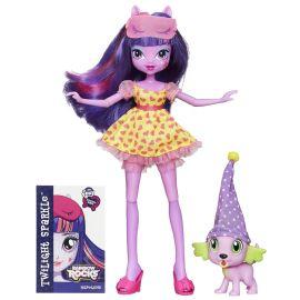 "Кукла ""Rainbow Rocks"" Девушки Эквестрии - Твайлайт Спаркл и Спайк, фото 1"