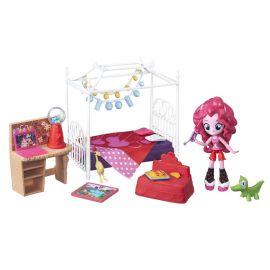 Кукла Пинки Пай Minis Девушки Эквестрии Пижамная Вечеринка Спальный Гарнитур, фото 1