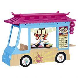 Игровой набор Девочки из Эквестрии с куклой Сансет Шиммер Суши-грузовик, фото 1