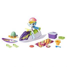 Игровой набор с мини-куклой Рейнбоу Дэш - «Игры на пляже» серии Пижамная вечеринка, фото 1